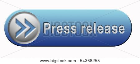 press release with breaking hot and latest news items button or icon
