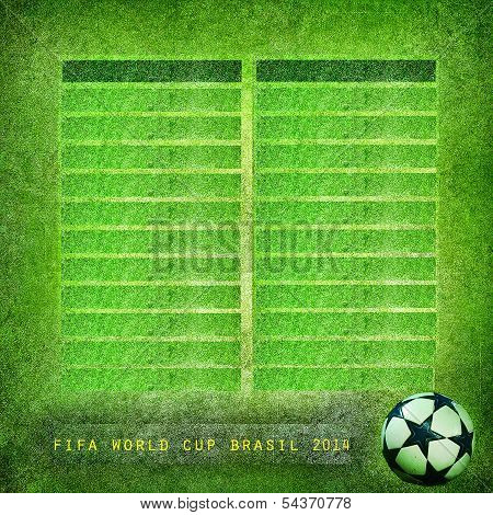 Grunge background Brazil 2014, World Cup