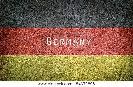 Grunge image of Germany flag