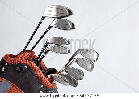 Set of golf clubs