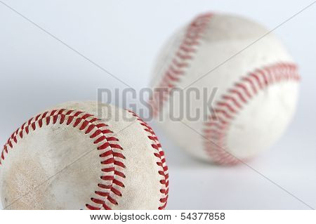 detal of two old baseball