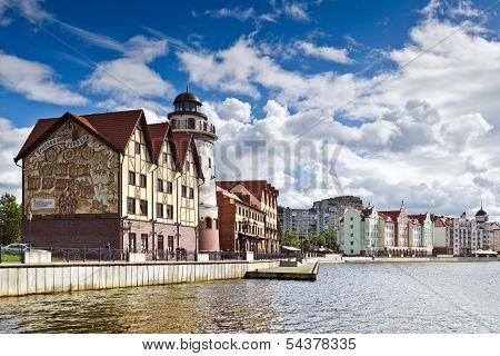 Fishing Village - Ethnographic Center. Kaliningrad (until 1946 Koenigsberg), Russia
