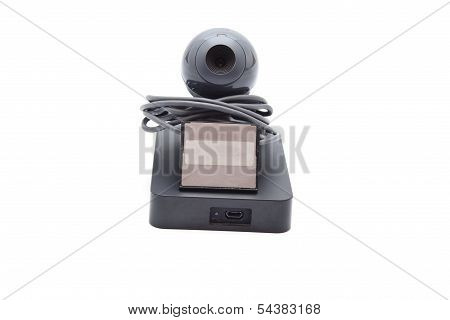 Webcam with External Hard Drive Disk