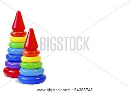 A toy for the child's development, pyramid