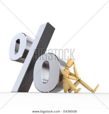 Doll Sitting At Percent Sign