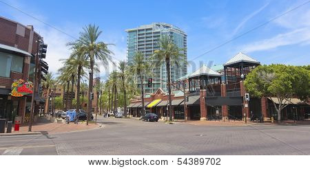 A Mill Avenue Street Scene, Tempe, Arizona