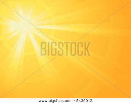 Asymmetric Sun Light Burst