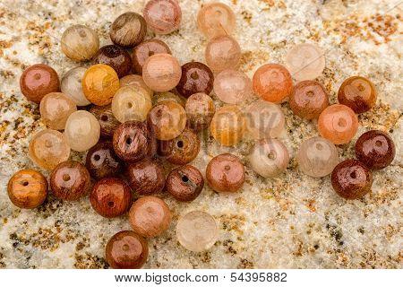 Rutiled Quartz Beads