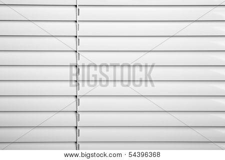 White plastic window blinds close studio shot