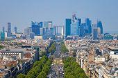 picture of charles de gaulle  - The Avenue Charles de Gaulle and La Defense Paris - JPG