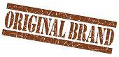 Original Brand Grunge Brown Stamp poster