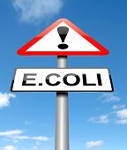foto of e coli  - Illustration depicting a sign with an E coli concept - JPG