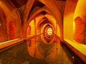 Baths Of Lady Maria De Padilla In Alcazar Of Seville, Spain