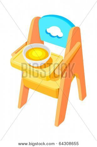 vector icon baby chair