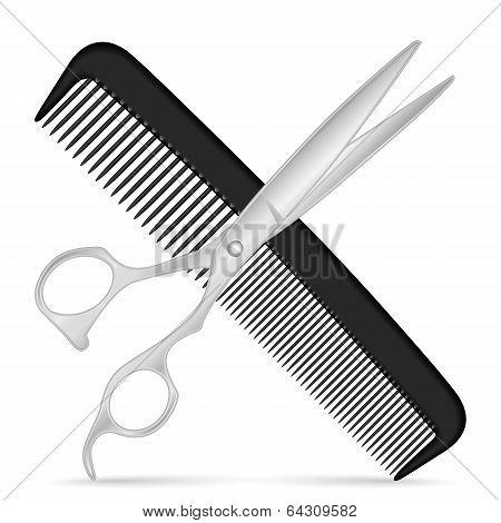 Comb Scissors Icon