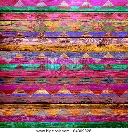 old color painted chevron wooden wall