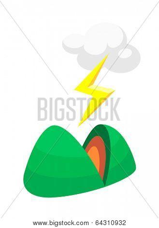 vector icon mountain
