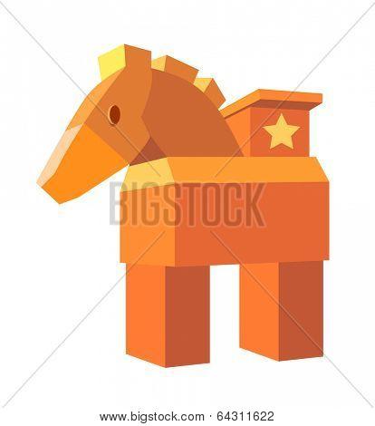icon wood horse