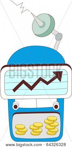 A vector illustration of stock market graph