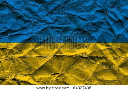 Rumpled Ukrainian Flag
