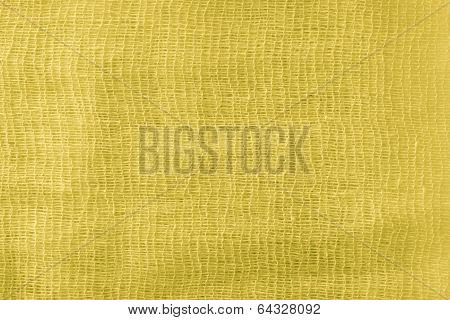 The Painted Gauze Texture Of  Yellow Color