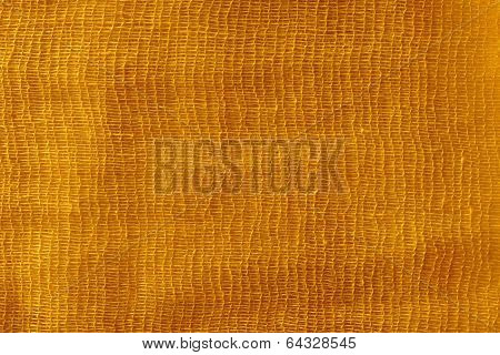 The Painted Gauze Texture Of  Gold Color