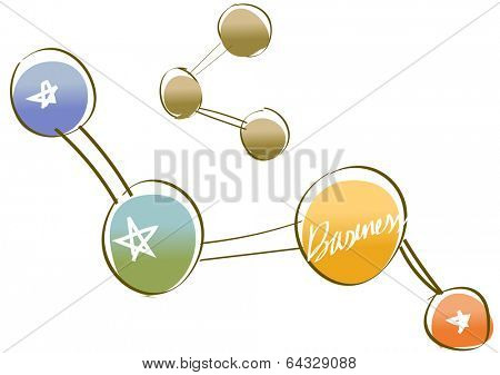 Vector illustration of a molecular structure