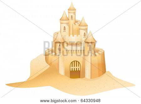 Vector illustration of sandcastle