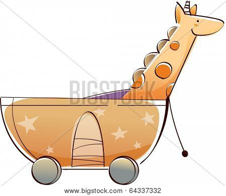 Vector illustration of a toy cart