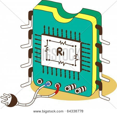 Vector illustration of a circuitry