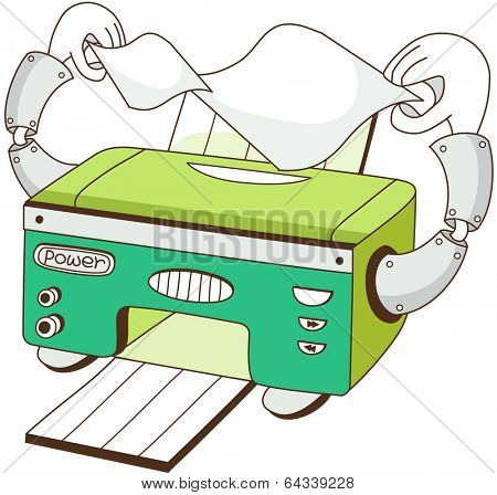 Vector illustration of a printer