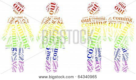 Tag or word cloud illustration related to homosexuality