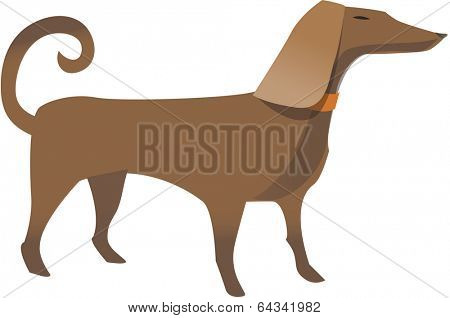 Vector illustration of a cute dog