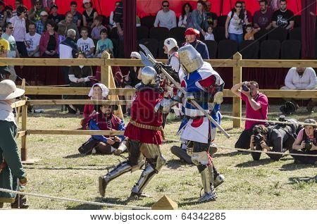 Japanese Knight Fighting