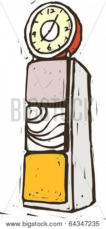 Vector illustration of a clock tower