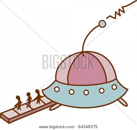 Vector illustration of a spacecraft