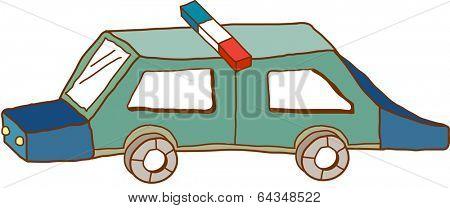 Vector illustration of a squad car