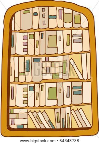 Vector illustration of a bookcase