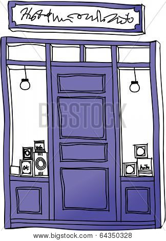 Vector illustration of a shop