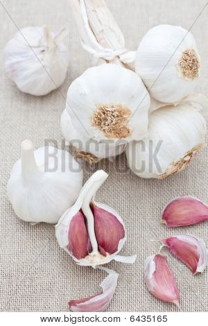 Cloves Of Fresh Garlic