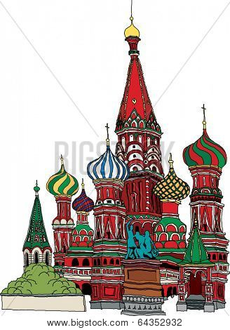 Vector illustration of an Orthodox church