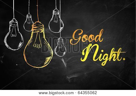 Good Night Bulbs Background