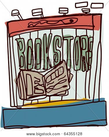 Vector illustration of a bookstore