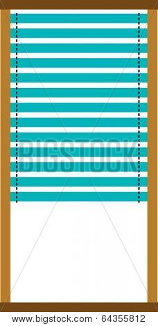 Vector illustration of window blinds