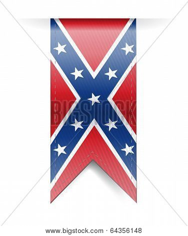 Confederate Flag Banner Illustration Design