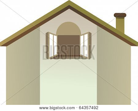 Vector illustration of a lodge