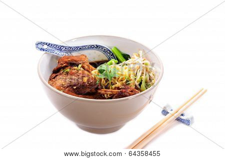 Egg Noodles With Pot-stewed Duck