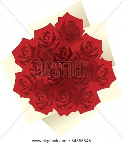 Vector illustration of a rose bouquet