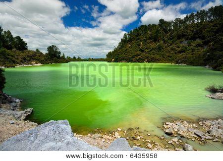 Fantastic colours of Lake Ngakoro