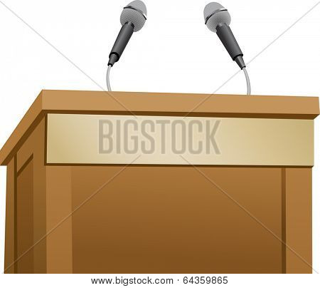 The view of podium